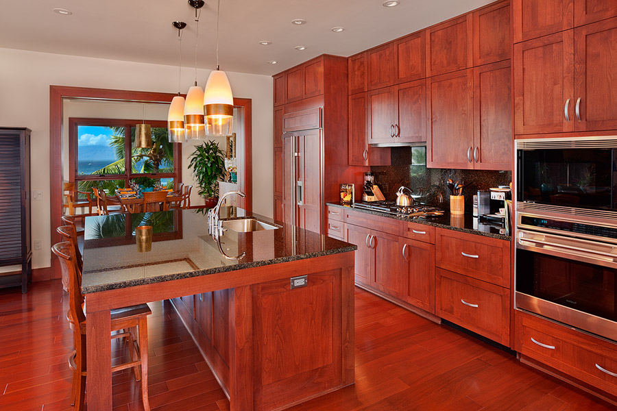 Granite Countertop Gourmet Kitchen with Den