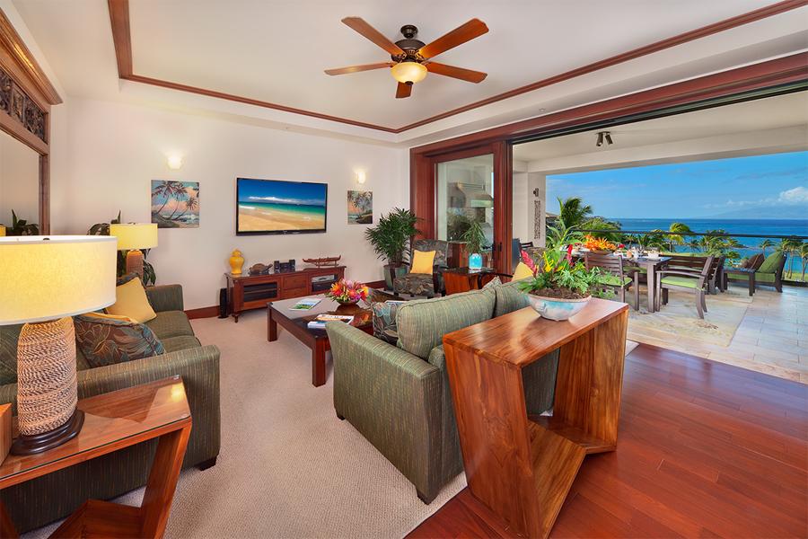 Luxury Furnishings and Large Flat Panel HD TV