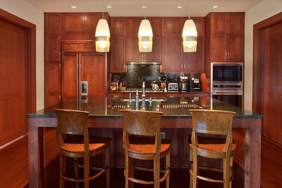 Gourmet Kitchen Convenient to Dining Living Areas