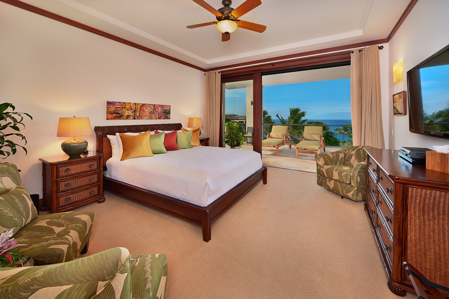 The Oceanview King Size Master Bedroom