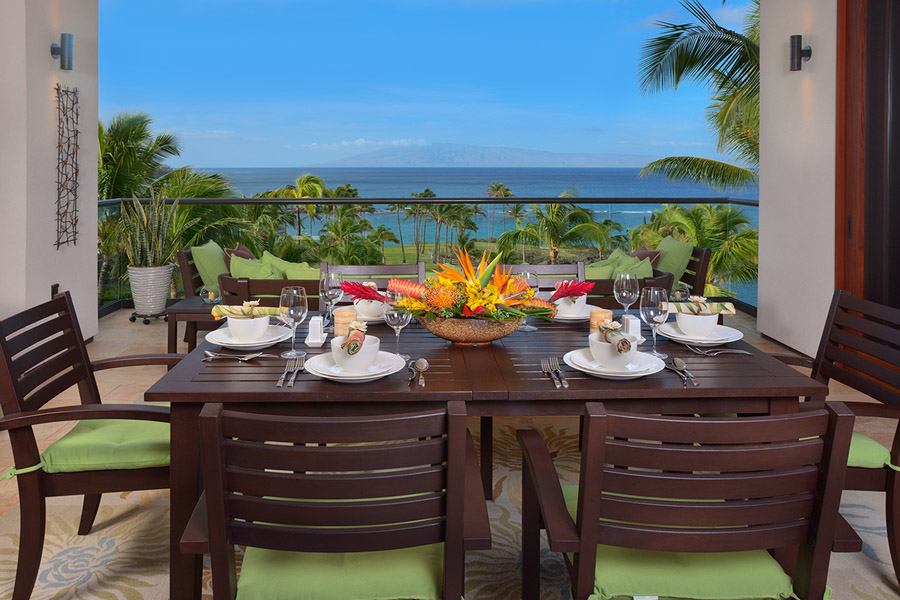 Ocean View Lanai Formal Dining Space and BBQ Area
