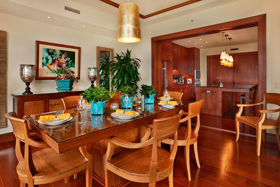 Sea Mist Villa 2403 - Interior Formal Dining Room with Panoramic Ocean Views