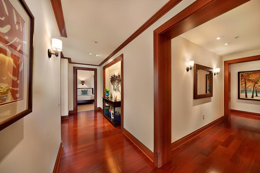 Sea Mist Villa 2403 - Entry Area and Hallways with Rich Hardwood Floors