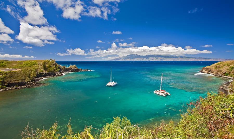 Honolua and Mokule`ia Bays located just north of Kapalua Resort