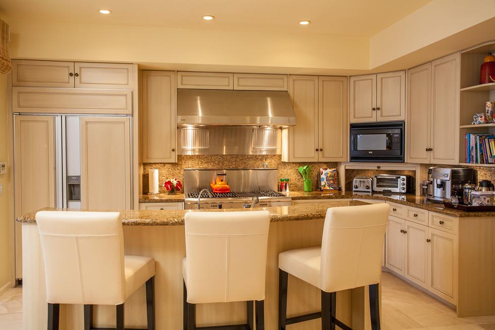 Poolside Kitchen with Fabulous Gas Range