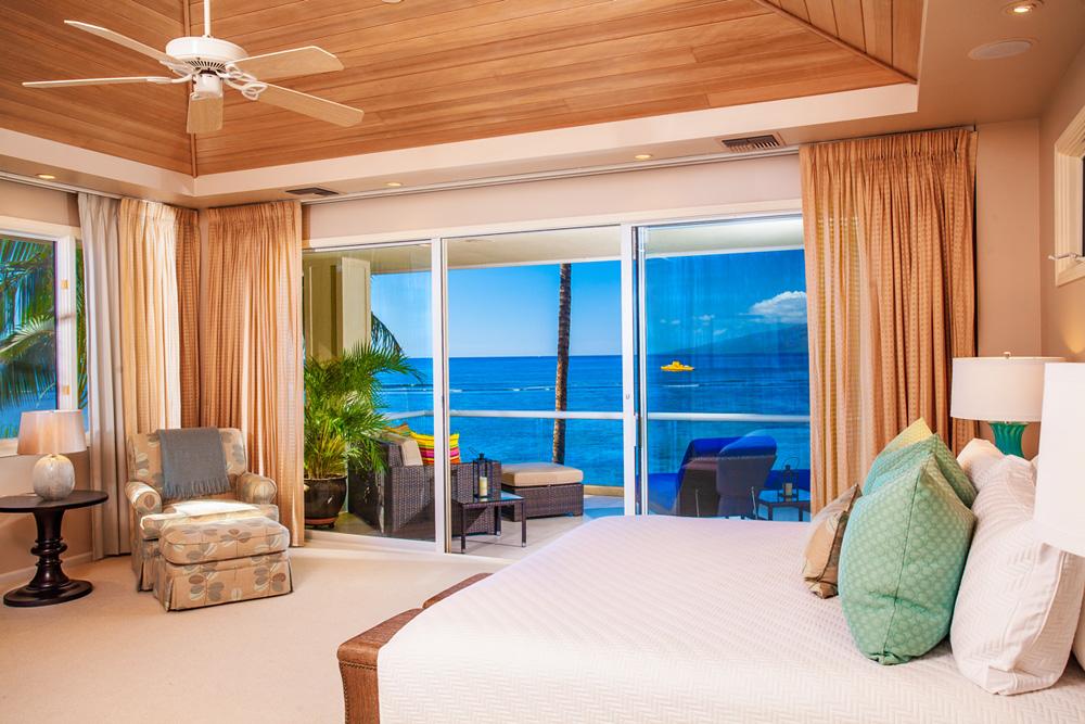 Second Floor Ocean and Beach View Master Bedroom
