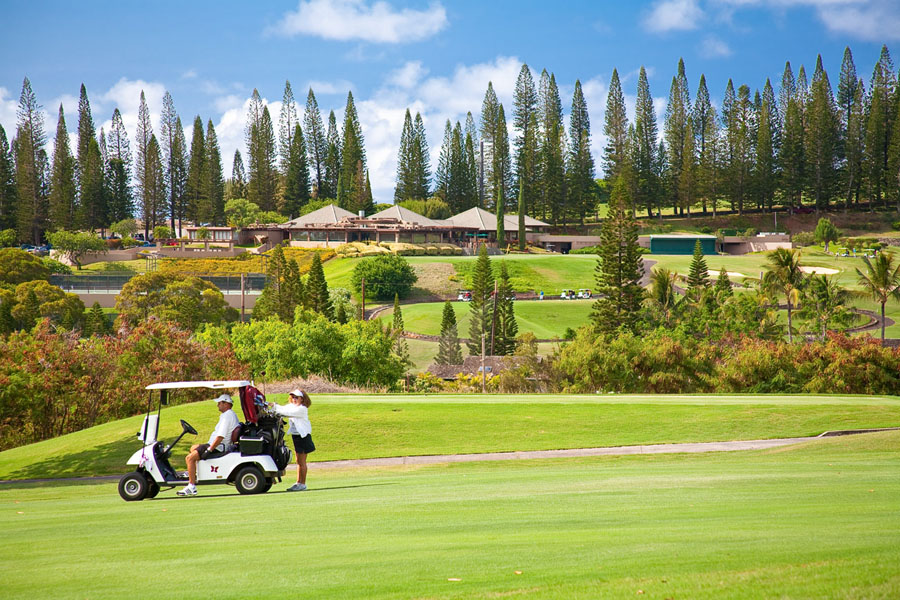 The Club House at Kapalua Bay Course and Tennis Club is set Amongst Cook...
