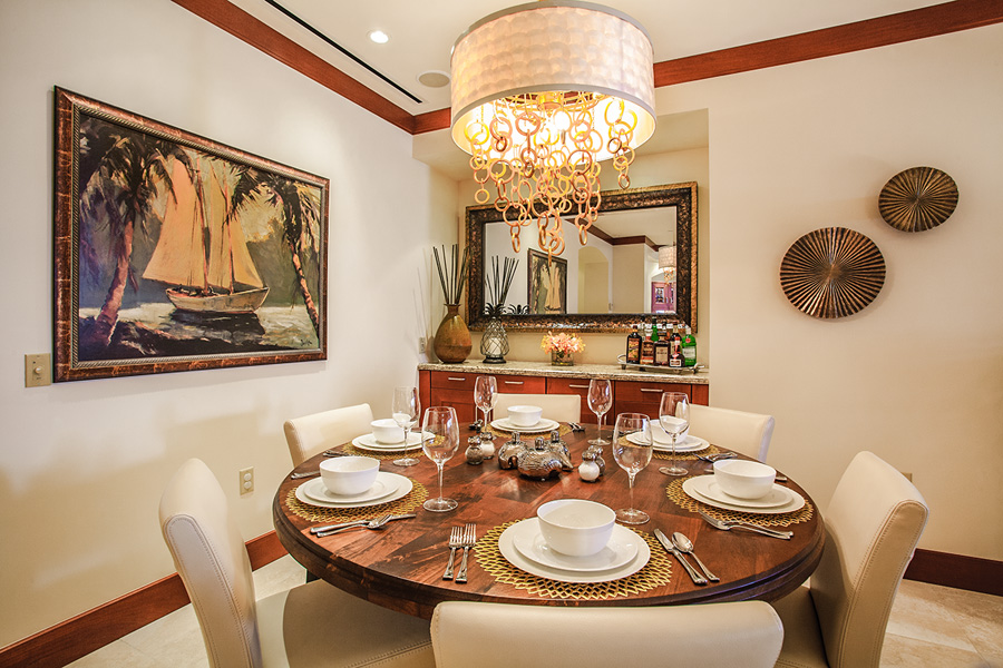 Indoor Dining has a 60-inch round Dining Table