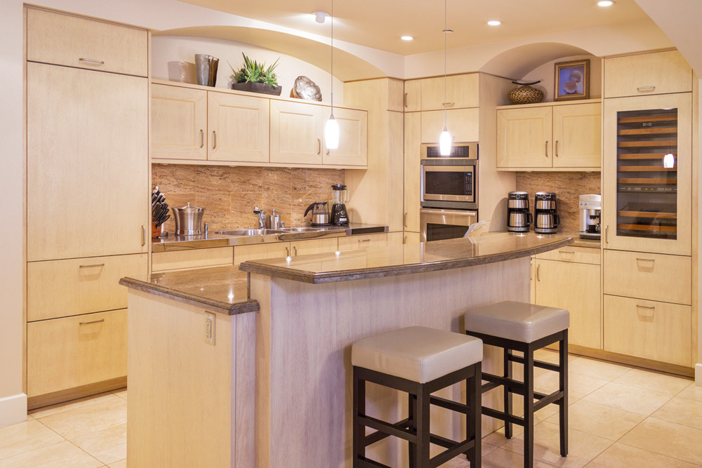 Gourmet Kitchen & Dining Area with Imported European Cabinetry, Granite Counters