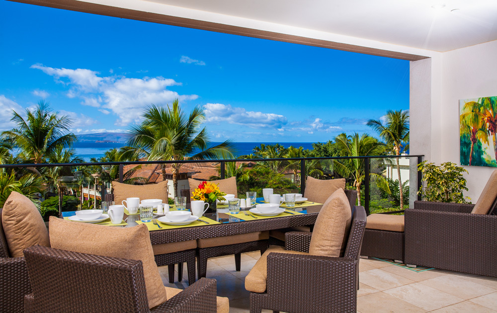 Spacious Private Dining Terrace for Eight Guests