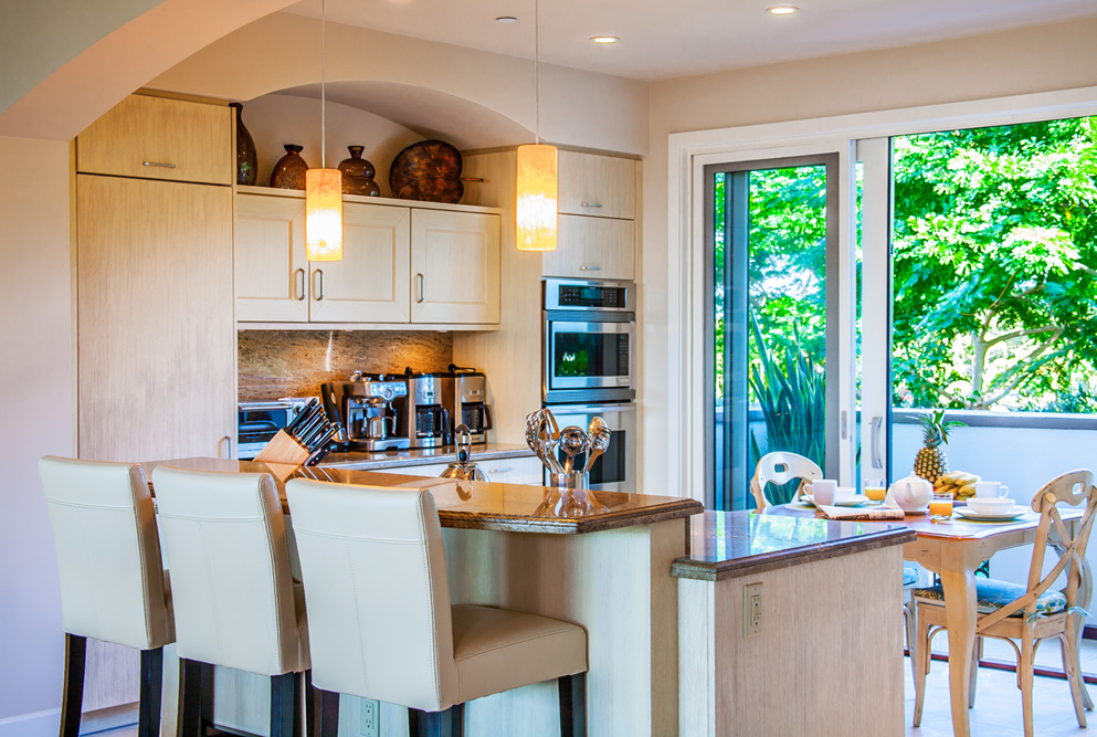 Fully Equipped Gourmet Kitchen with Garden View, Espresso Maker