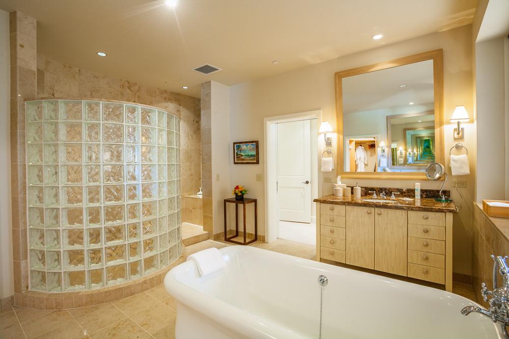 Master Bedroom Bath with Twin Vanities