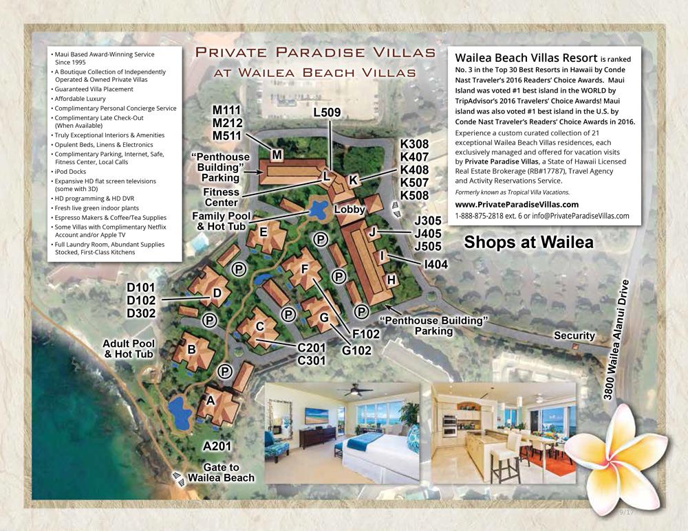 Wailea Beach Villas Property Map