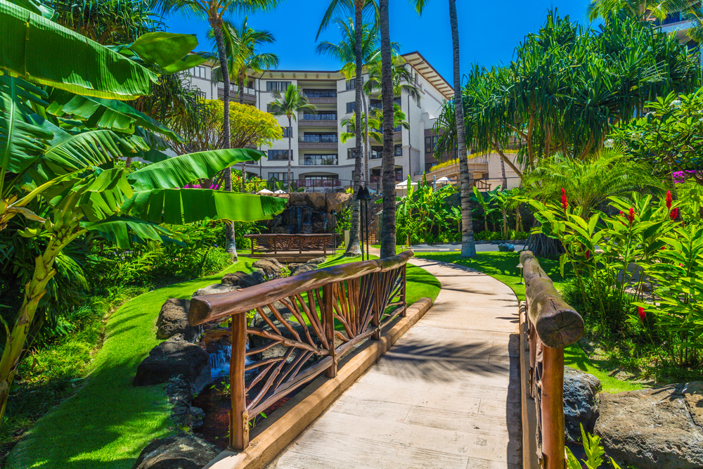 Beautiful Gardens and Walkways with Brightly Colored Flowers Throughout