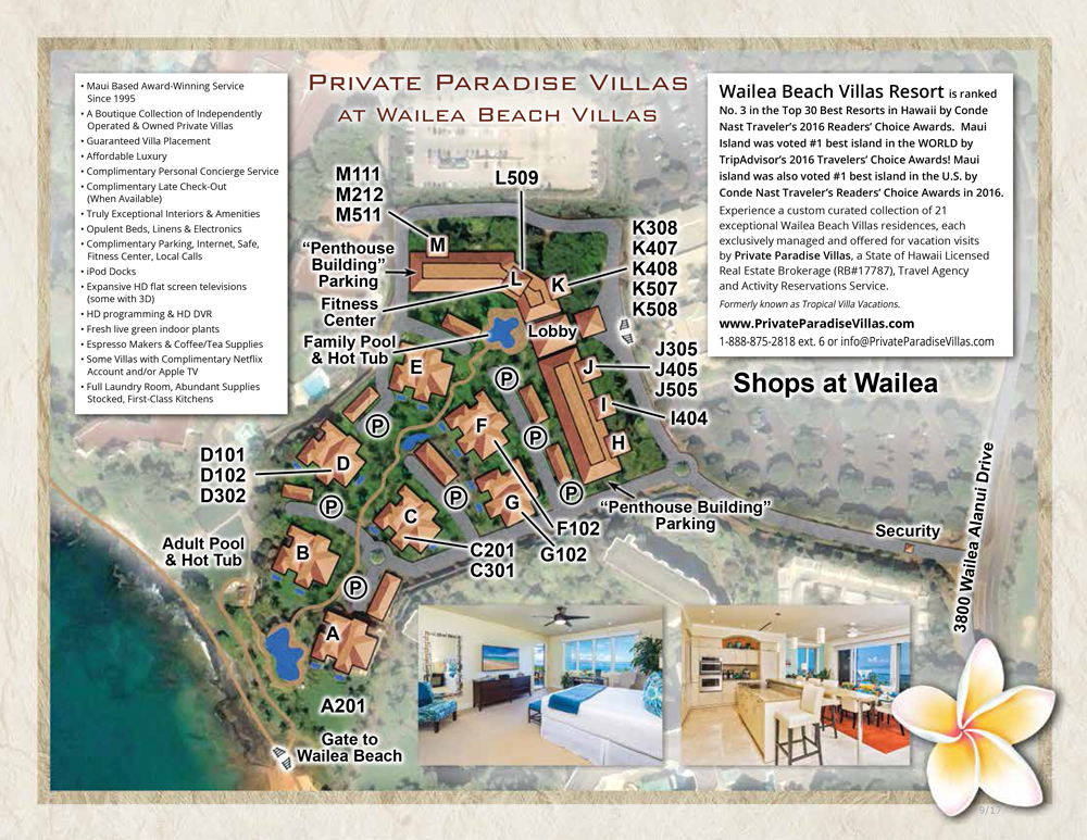 Wailea Beach Villas Property Map