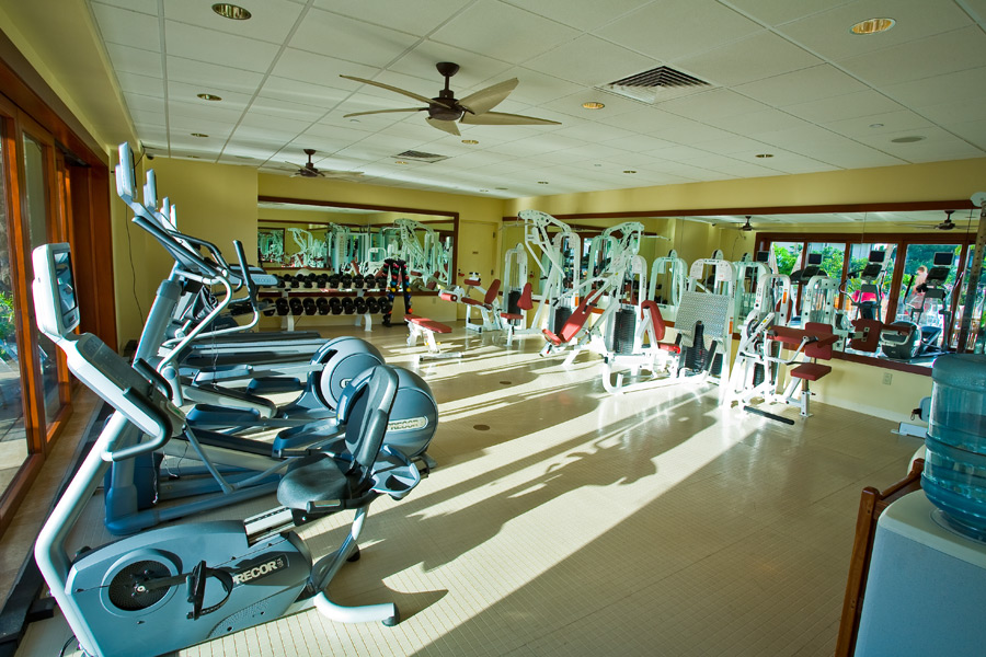 Fully Equipped Poolside Gym Wailea Beach Villas