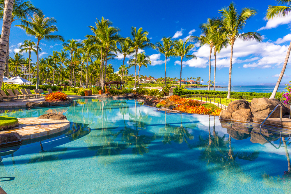 Beach Front Adult Infinity-Edge Heated Swimming Pool set Directly on Wailea...