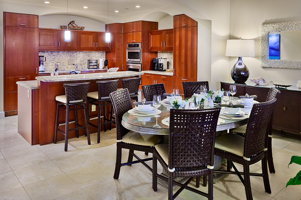 Fully Equipped Chef Kitchen and Dining Area