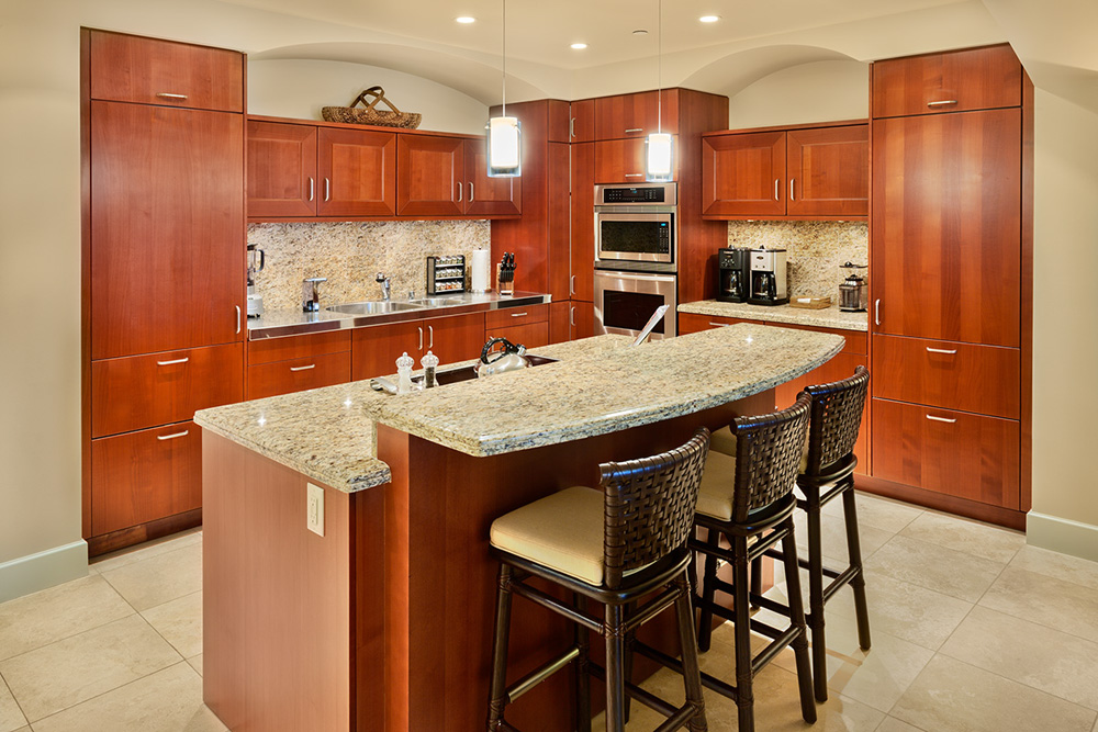 Fully Equipped Chef Kitchen with Bar Seating For 3