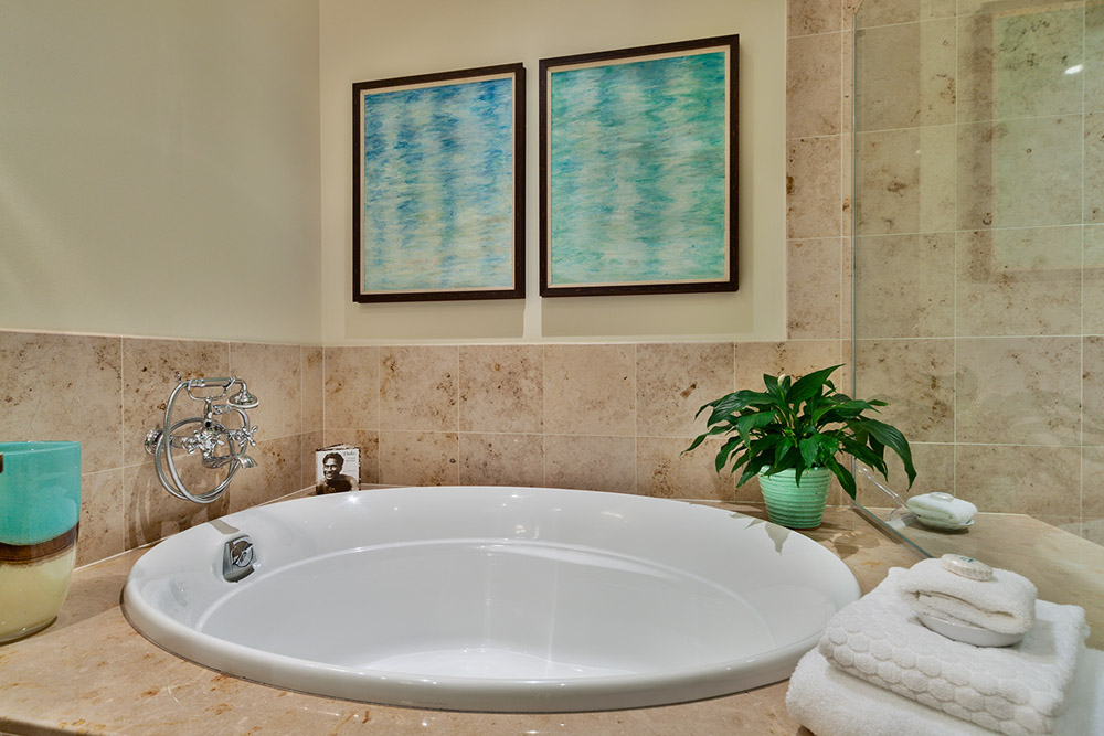 Master Bedroom En-Suite Bath with Deep Soaking Tub