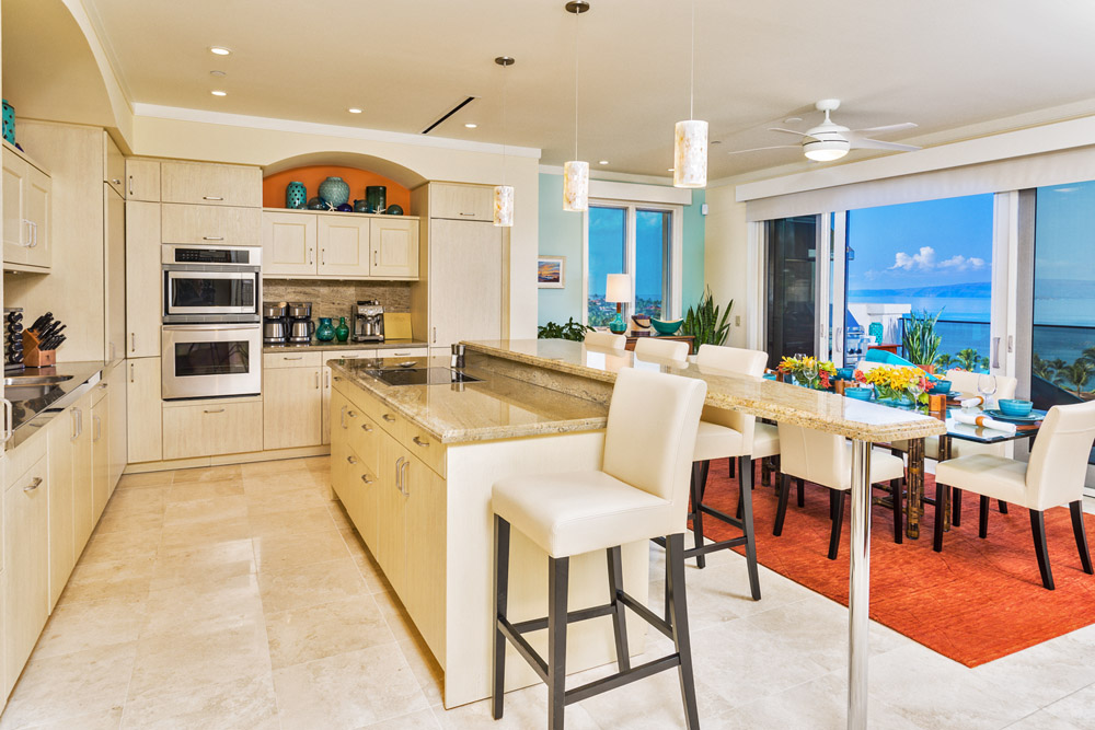 Kitchen and Dining with Panoramic Ocean Views