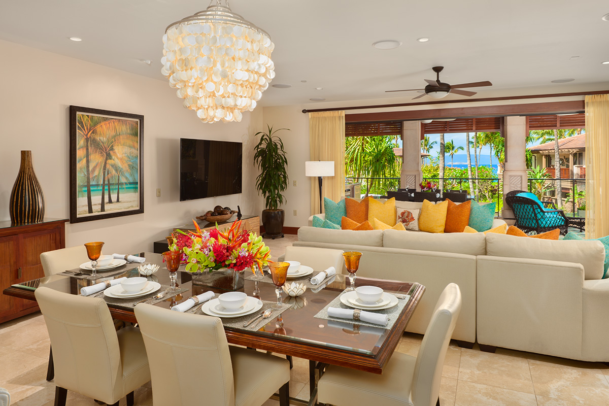 Spacious Ocean View Great Room and Alfresco Covered Terrace with Lounging Area