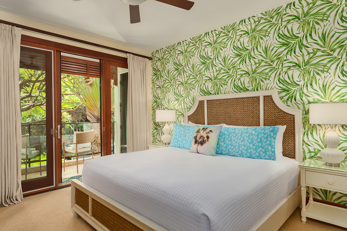 Third Garden View Bedroom with eastern King Bed and Ensuite Bathroom