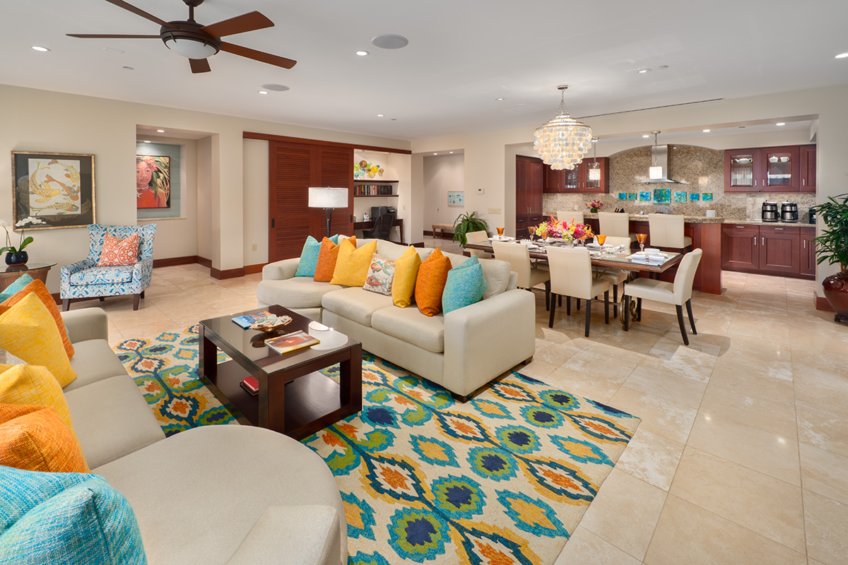 Spacious Ocean View Great Room, Dining and Gourmet Kitchen